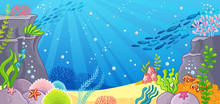 Sea Bottom. Vector Illustratio...