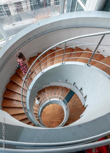 Photo sur Toile Spirale Spiral staircases paris