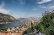 Panorama over Kotor bay with harbor Montenegro