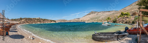 Photo sur Aluminium Palerme Porto Palermo bay on a sunny day in Albania