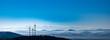 canvas print picture - Windräder vor Alpenpanorama im schwarzwald