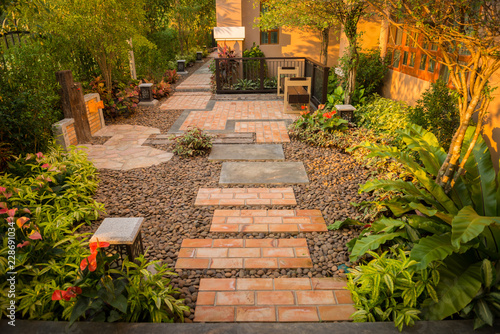Photo sur Aluminium Jardin decorative garden