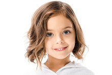 Portrait Of Cute Child In Whit...