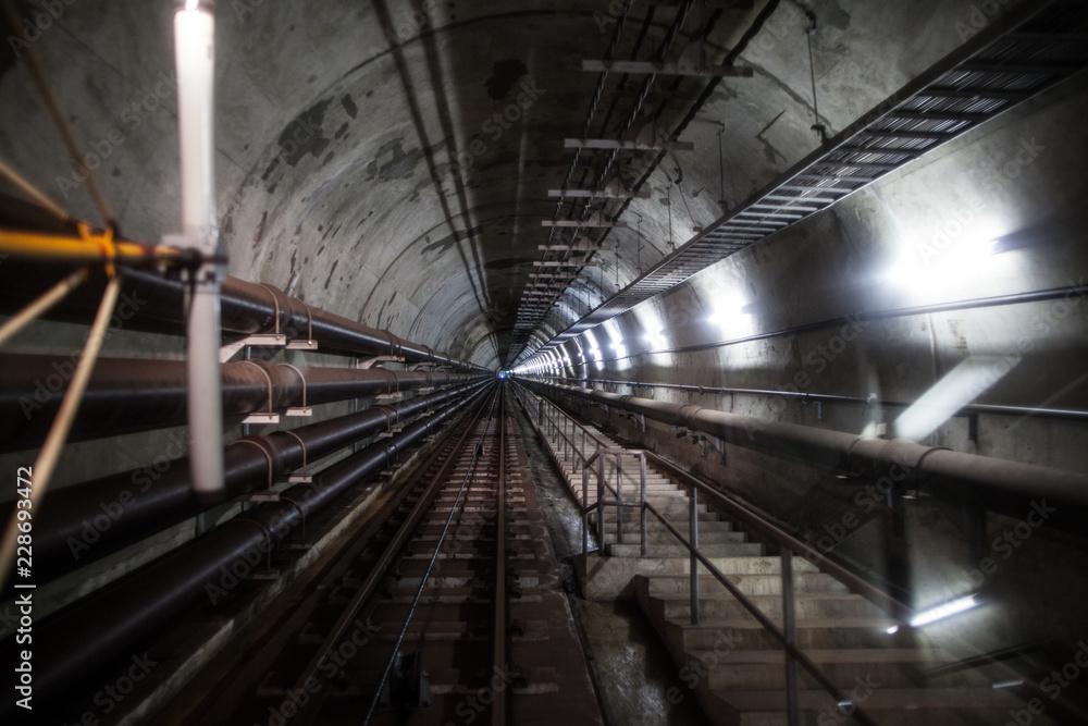 Fototapeta 青函トンネル坑道