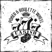 Casino Gambling Vector Emblem ...