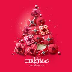 Fototapeta Luxury Christmas greeting card