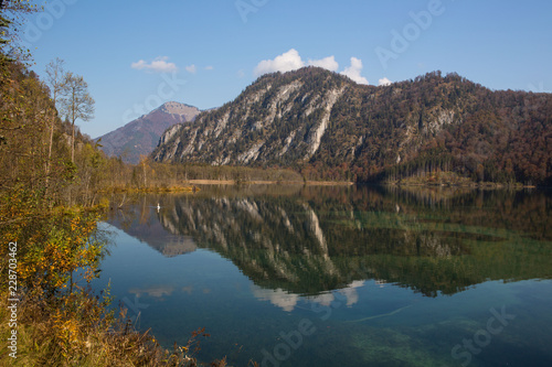 Herbststimmung am Almsee Canvas Print