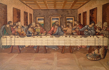 The Last Supper of Christ and the Disciples, church of Holy Trinity in Klenovnik, Croatia