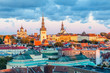 Cityscape of Talinn, capital city of Estonia