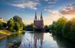 canvas print picture - Church in Strasbourg