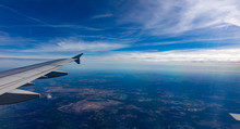 Aerial View Out Of An Airplane...