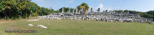 Photo  Part of archaeological zone El Rey in Cancun