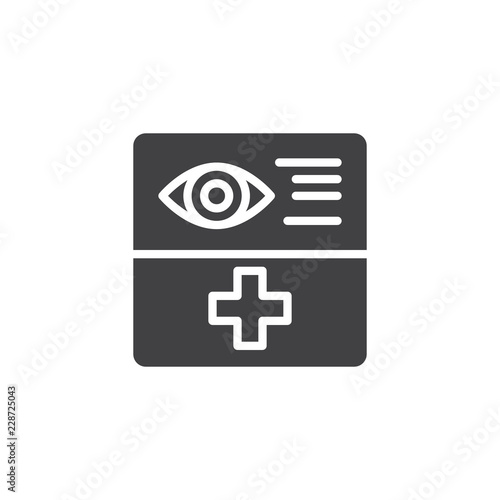Fotografía  Optometry document form vector icon