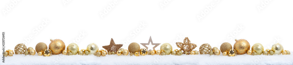 Fototapety, obrazy: christmas panorama on white