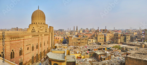 Panorama of Cairo from Bab Zuwayla Gate, Egypt