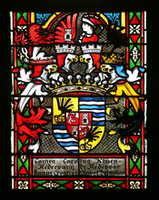 Coat Of Arms Of Ban Khuen Hedervary, Stained Glass In Zagreb Cathedral Dedicated To The Assumption Of Mary