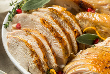 Roasted Cut Up Turkey Platter For Thanksgiving
