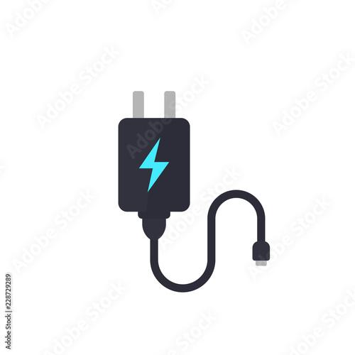 Obraz na plátně Mobile charger vector illustration on white