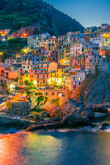Fototapeta Uliczki Picturesque town of Manarola, Liguria, Italy