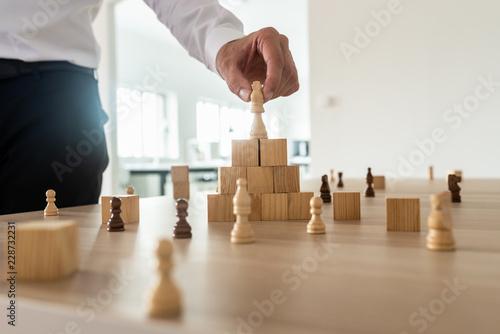 Fotografie, Obraz Business hierarchy concept