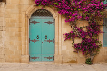 Ancient Maltese House With Blu...