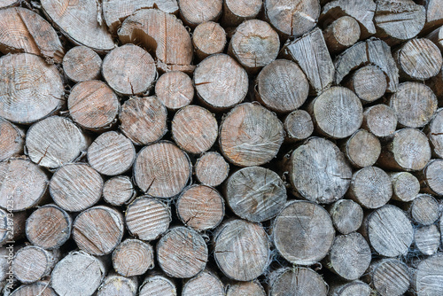 Fotobehang Brandhout textuur Brennholz