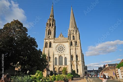 Chartres, la cattedrale di Notre Dame - Francia Fotobehang