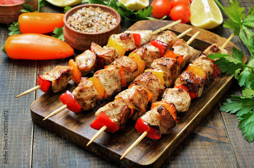 Fried chicken kebabs