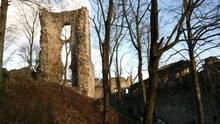 Ruins Of Castle In Forest In West Slovakia, Dobra Voda
