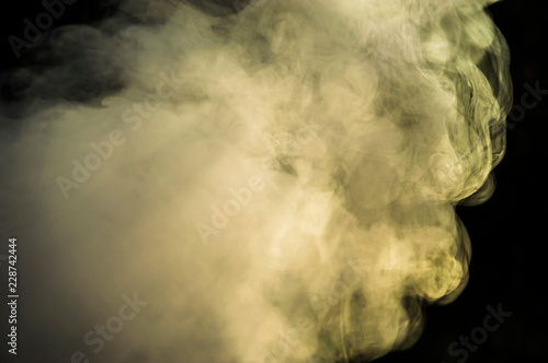 Photo sur Toile Les Textures nature smoke from the fire photo