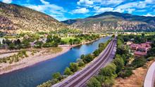 Aerial Glenwood Springs Rocky ...