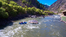 Aerial White Water Rafting Col...
