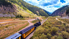 Aerial Old Train In Silverton ...