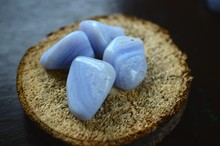 Blue Lace Agate Tumbled Stone Great For Dealing With Stress And Emotions Tumbled Blue Lace Agate Comfort And Nurturing Healing Reiki Crystal. Blue, Periwinkle Crystal.