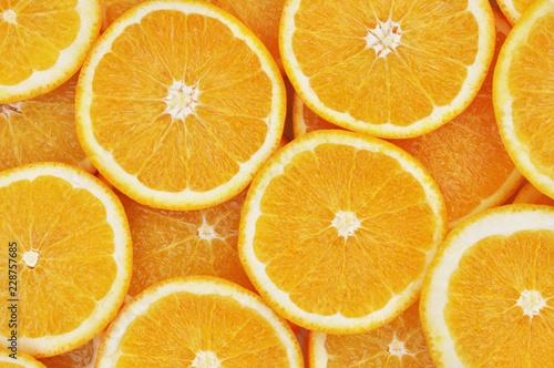Foto op Aluminium Vruchten Fresh ripe sweet orange citrus fruits colorful background