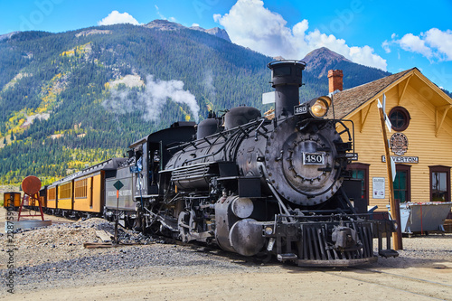 Fotografie, Obraz  Old Train 1800's Coal Powered in Mountains