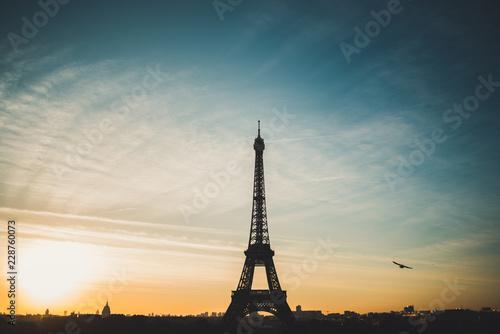 Papiers peints Bleu vert Eiffel Tower, Paris, France
