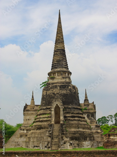 ancient pagoda in ayutthaya thailand