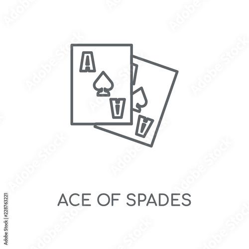 Fotografía ace of spades icon