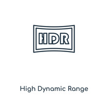 High Dynamic Range Imaging Icon Vector