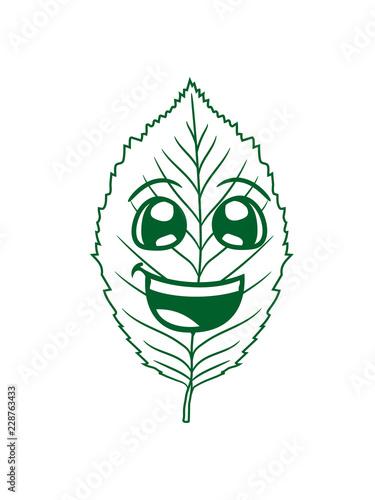 Photographie  glücklich gesicht comic cartoon buche blatt baum pflanze form clipart design wal
