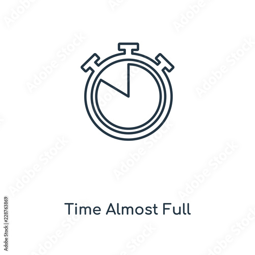 time almost full icon vector Canvas Print