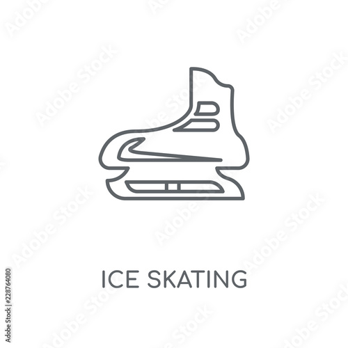 ice skating icon Wallpaper Mural