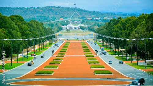 Anzac Boulevard - View from Australian War Memorial, looking
