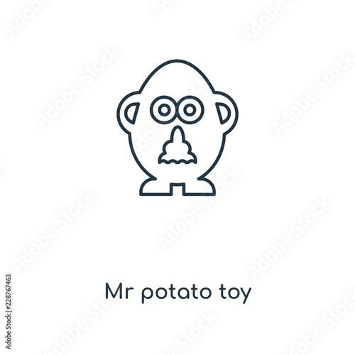 Obraz na plátně mr potato toy icon vector