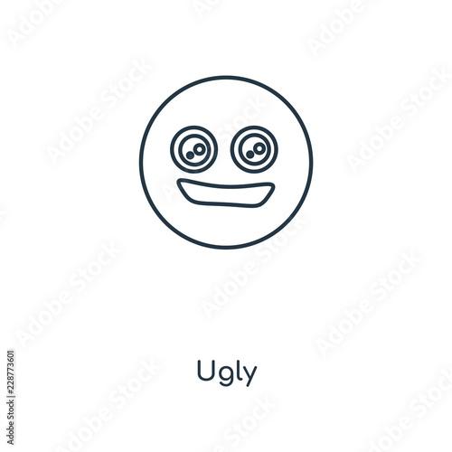 Fotografie, Obraz  ugly icon vector