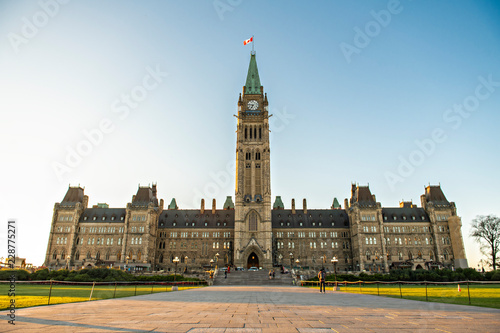 Center Block and the Peace Tower in Parliament Hill at Ottawa in Canada Fototapeta