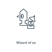 Wizard Of Oz Icon Vector