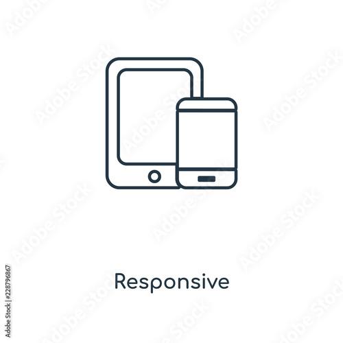 Fotografía  responsive icon vector