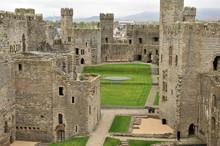 Medieval Castle Carnarvon, Wales.